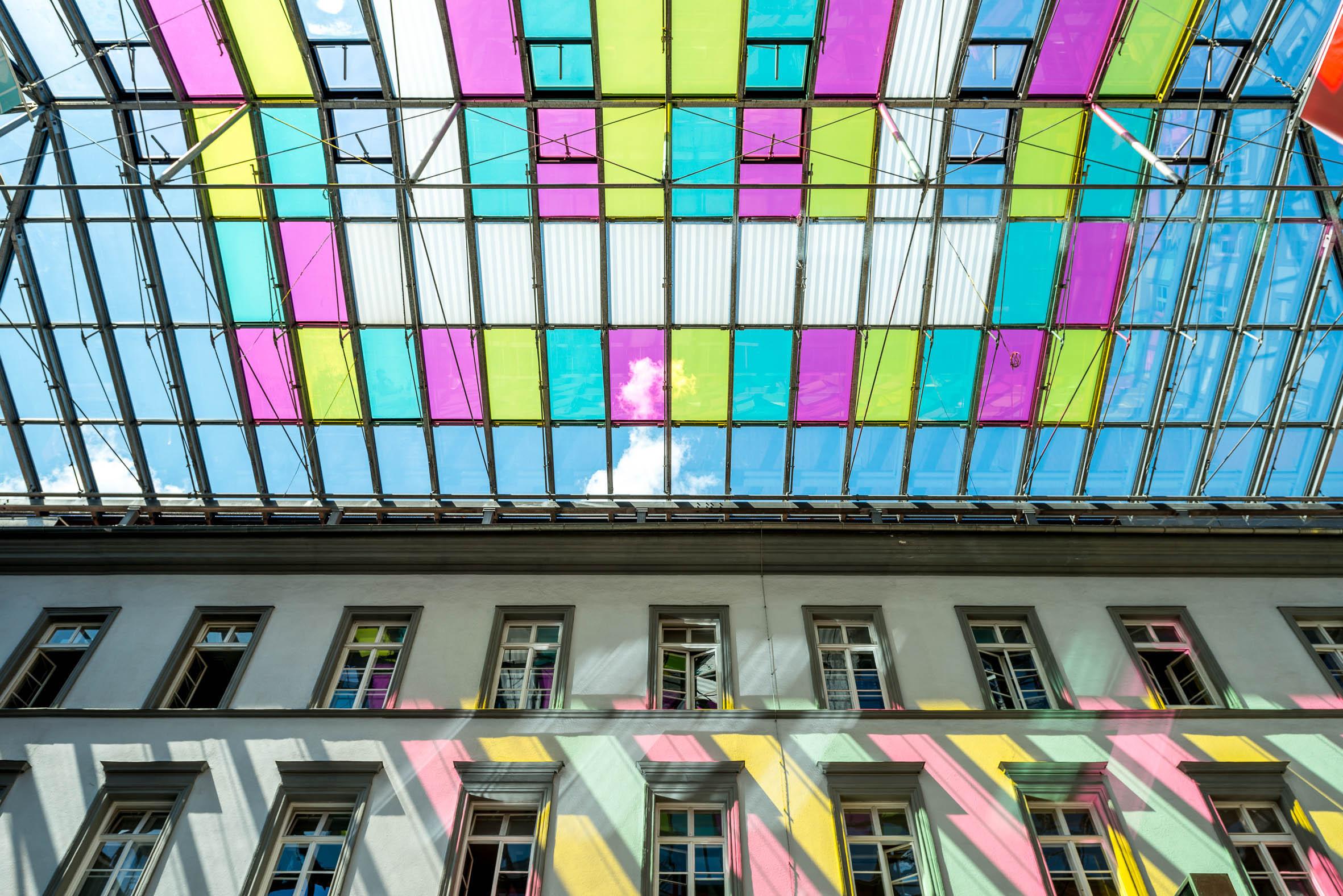 Architekturfotografie Rathausgalerien Glasdach Innsbruck