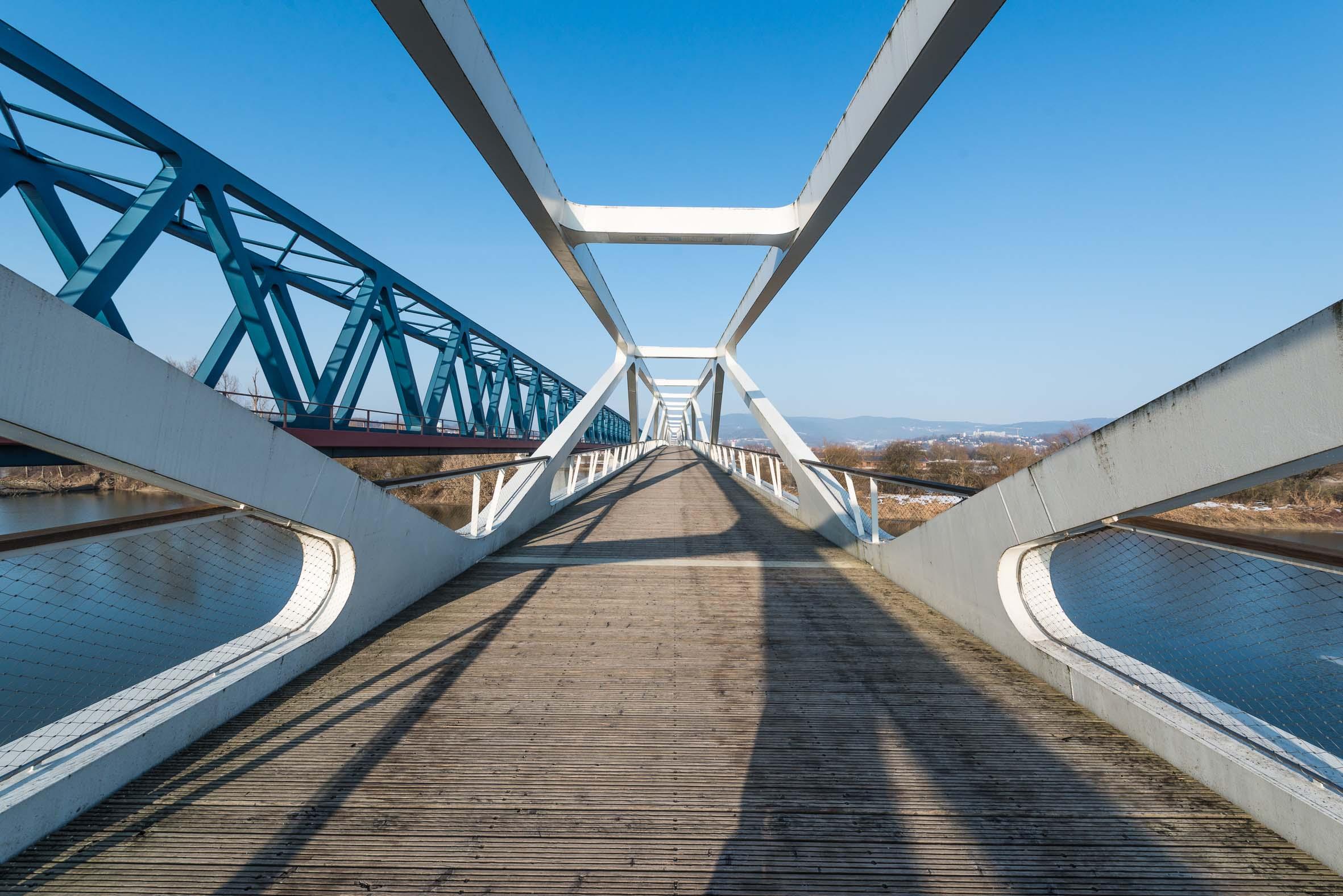 Architekturfotografie Geh- und Radwegbrücke Deggendorf Deutscher Brückenbaupreis 2016