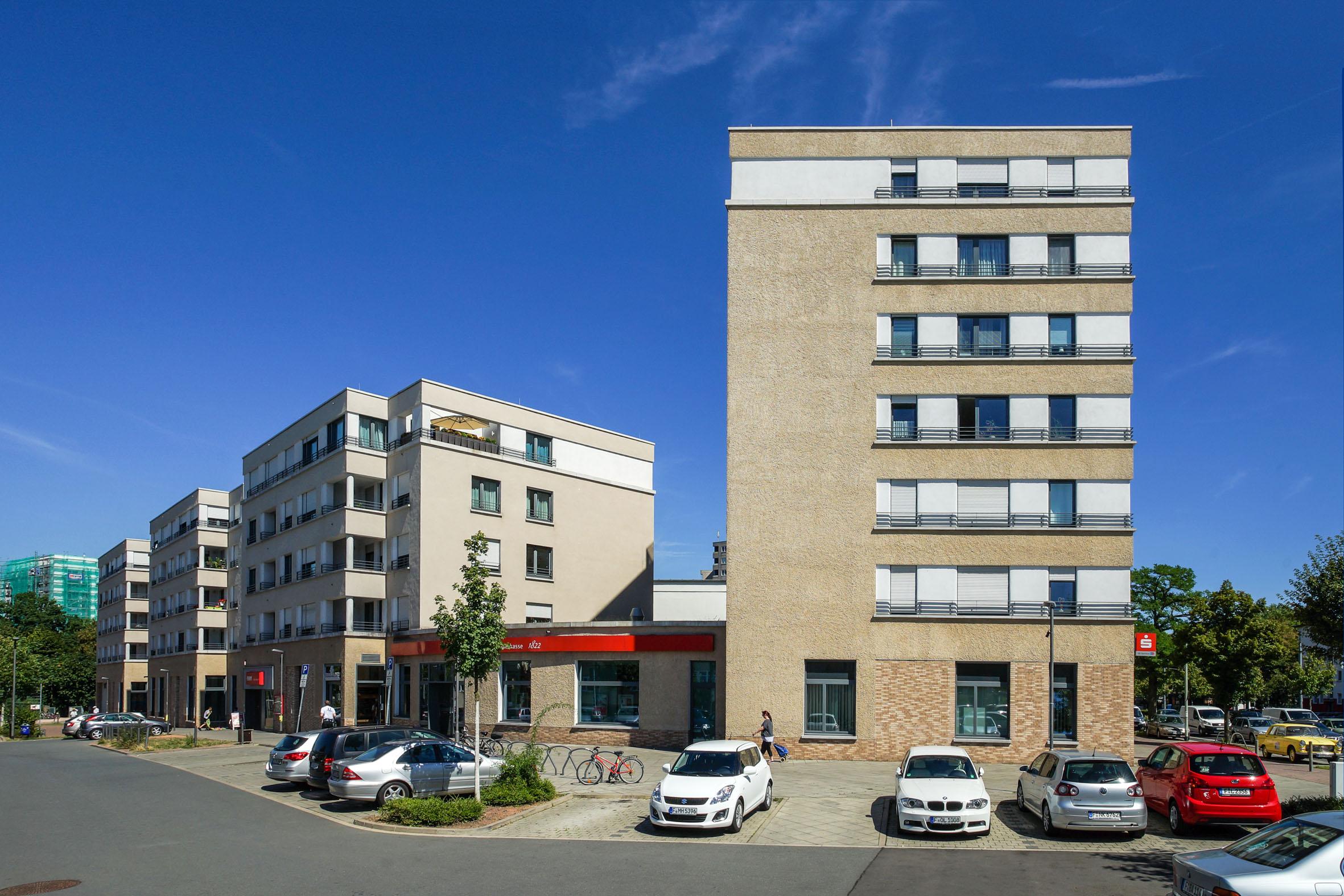 Architekturfotografie Wohn- und Gebäudekomplex Frankfurt Sachsenhausen