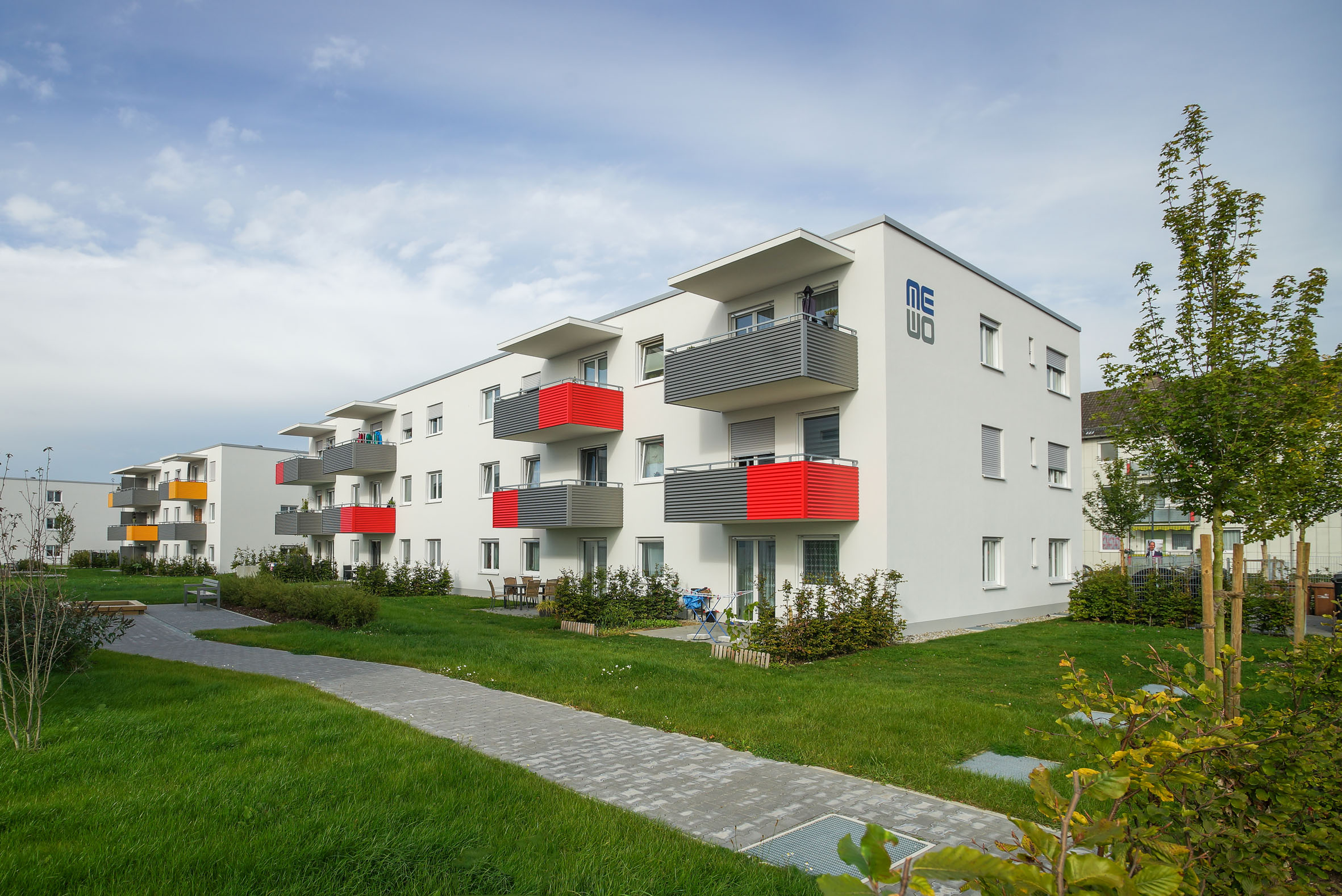 Architekturfotografie Sozialer Wohnungsbau Memmingen MEWO