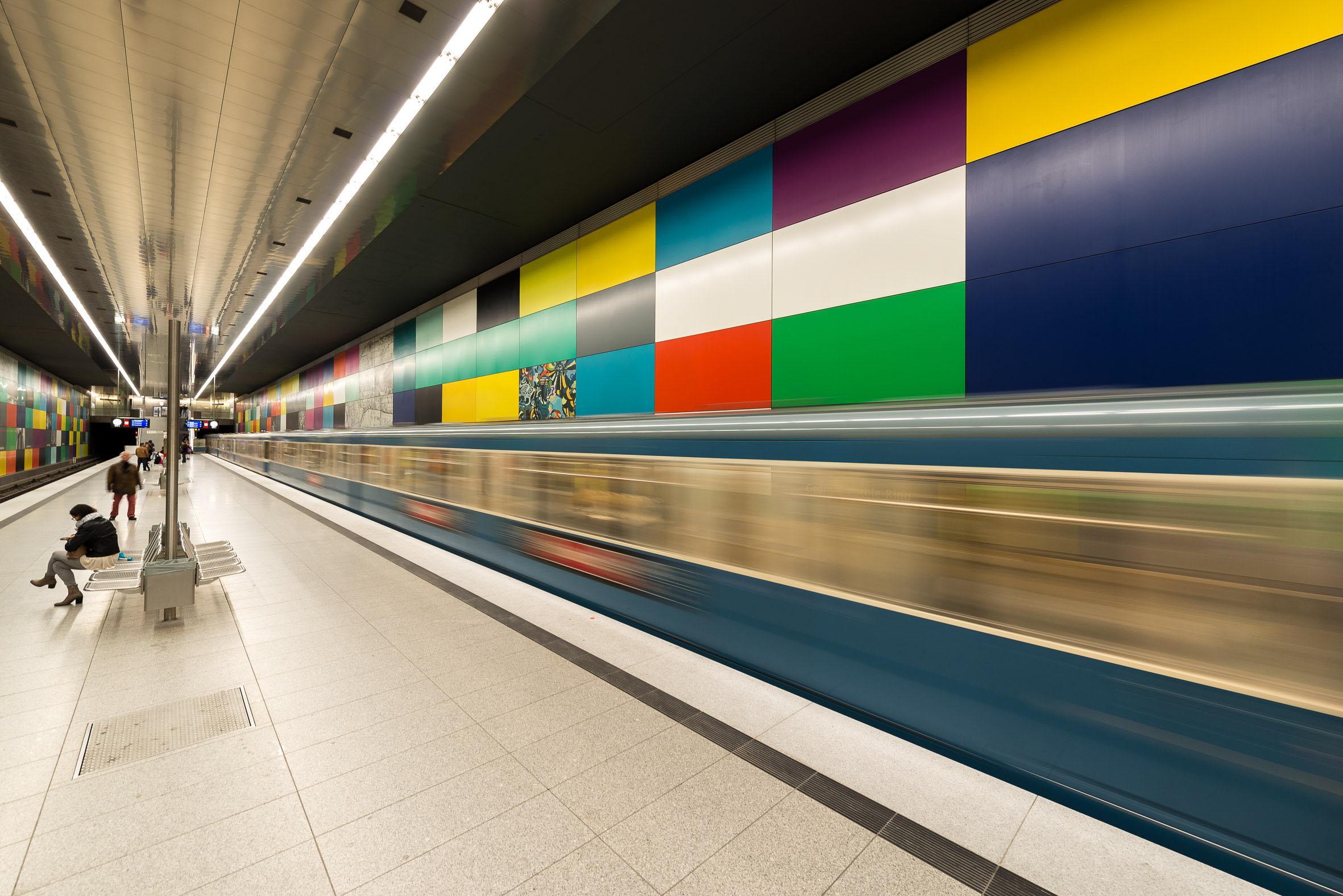 Architekturfotografie U-Bahn Station Georg-Brauchle-Ring München