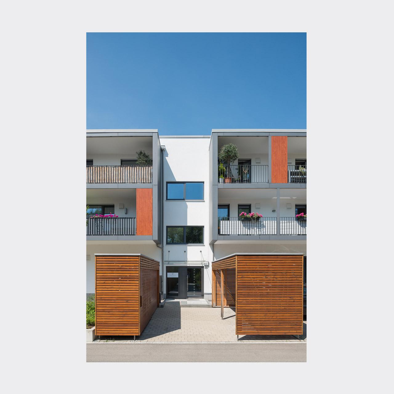 Architekturfotografie Wohnanlage Lechterrassen Landsberg am Lech