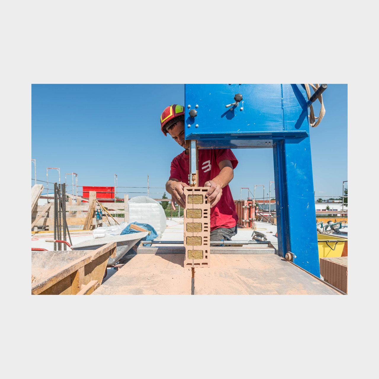 Architekturfotografie Lauingen Bauen mit Planziegel Reportage