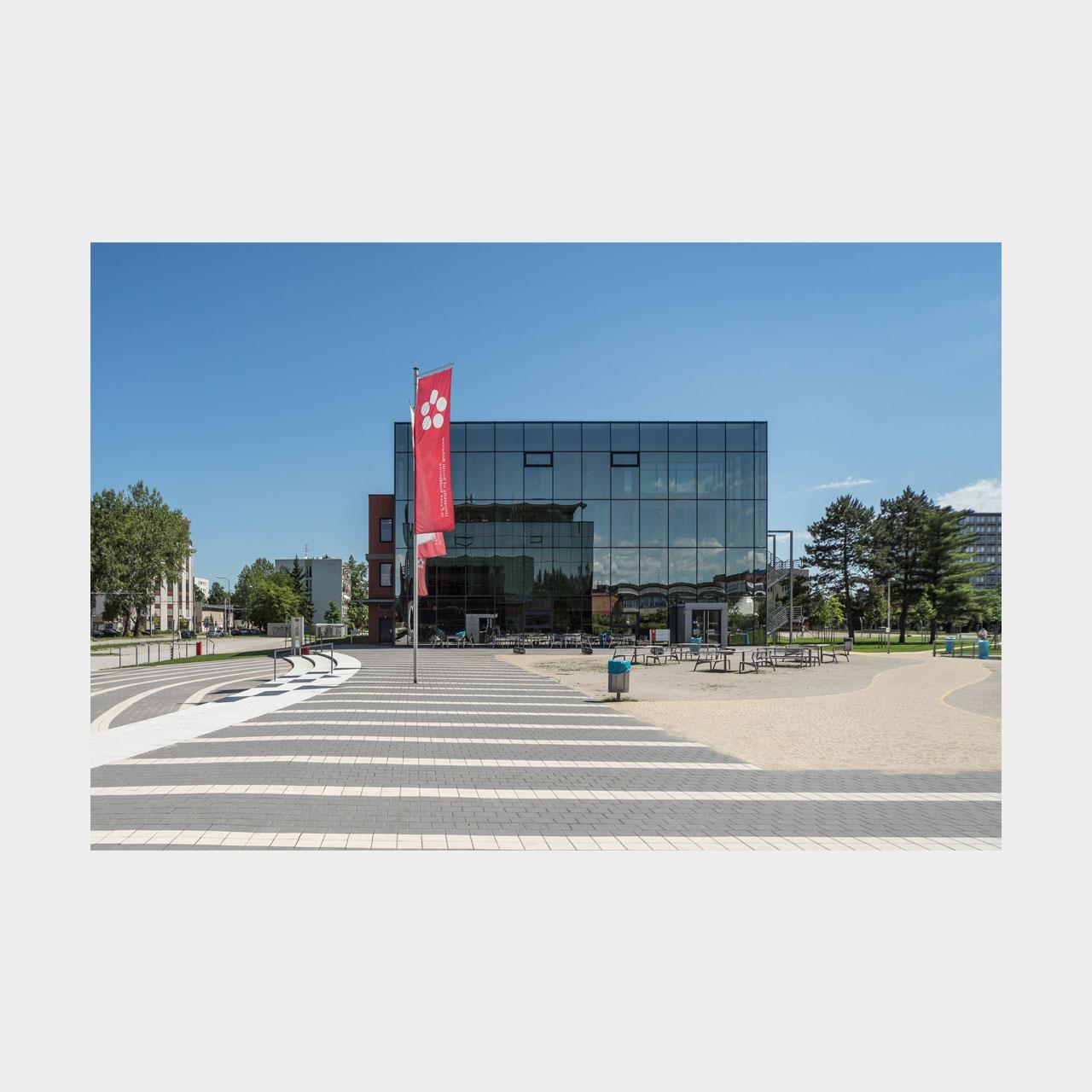 Architekturfotografie Budweis Südböhmische Universität Rektorat und Philosophische Fakultät