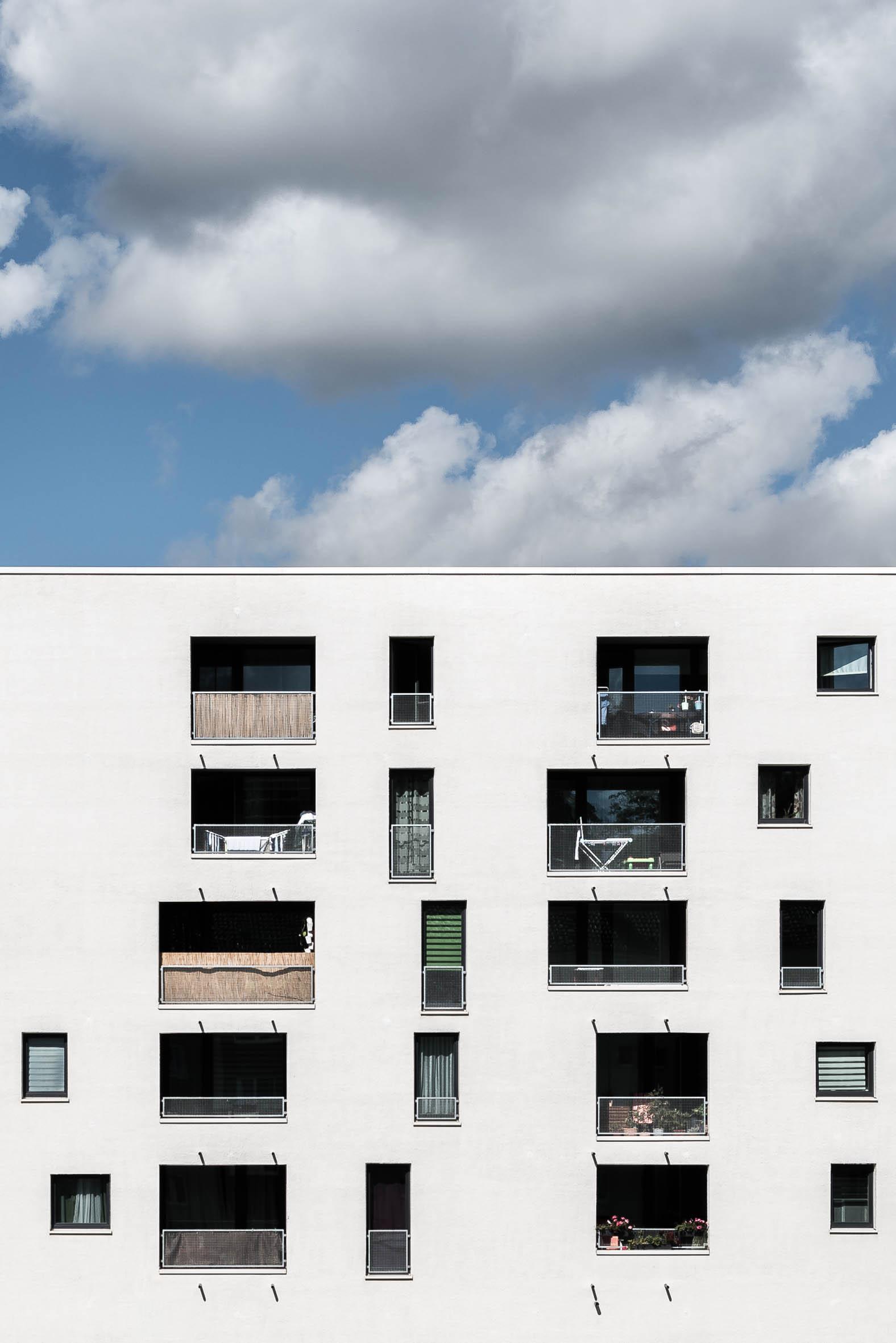 Architekturfotografie Neu Ulm Sozialer Wohnbau Jules et Jim