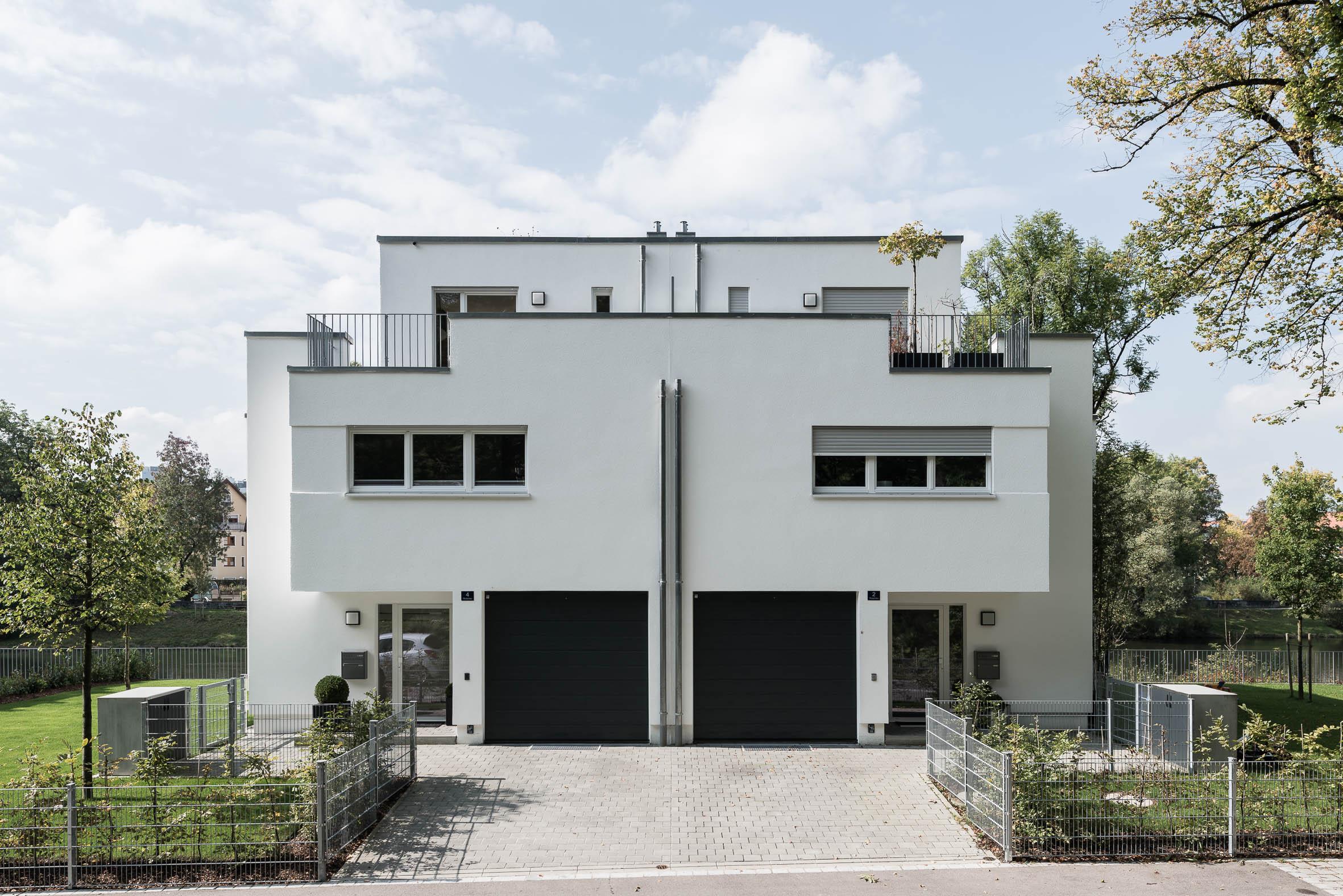 Architekturfotografie Doppelhaus Kaufbeuren