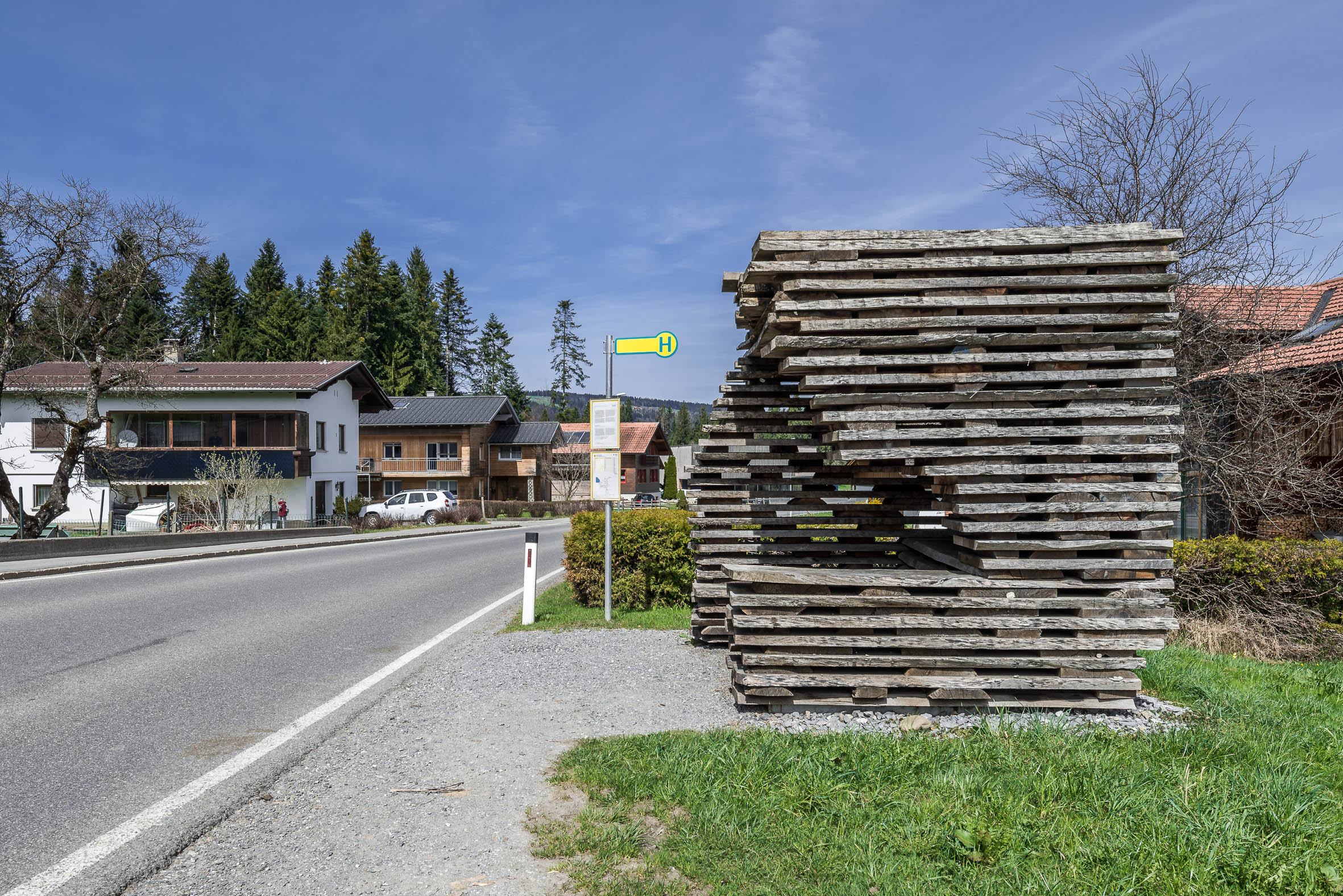 Architekturfotografie Krumbach Bushaltestelle Unterkrumbach Nord