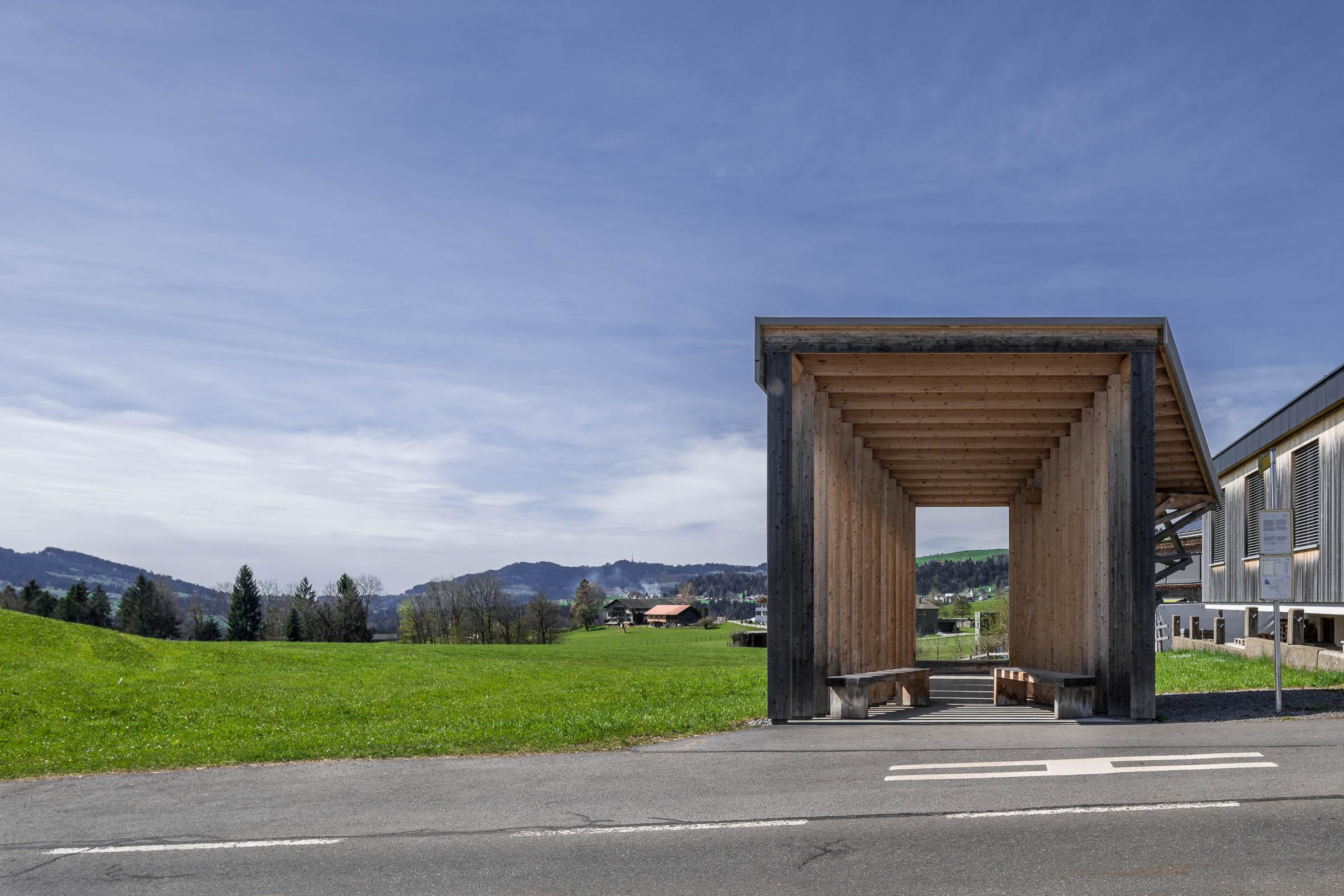 Architekturfotografie Krumbach Bushaltestelle Glatzegg