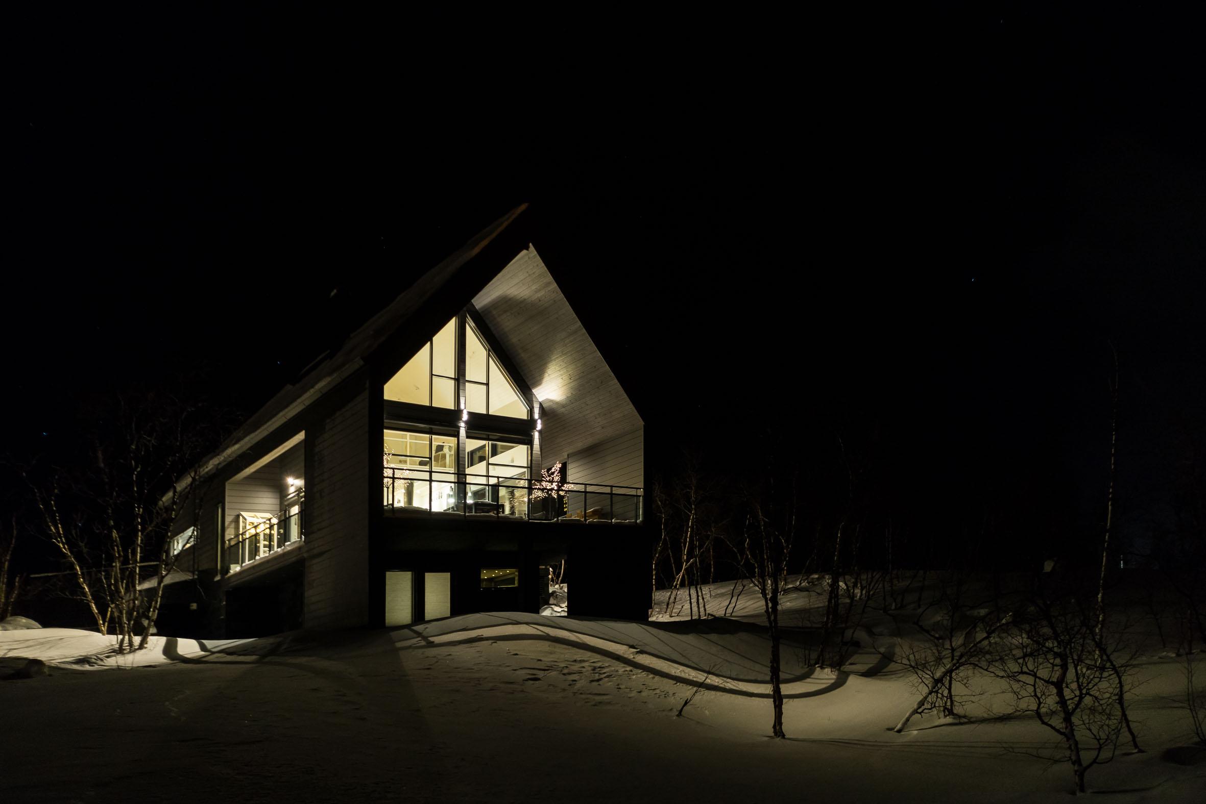 Architekturfotografie Kilpisjaervi Einfamilienhaus