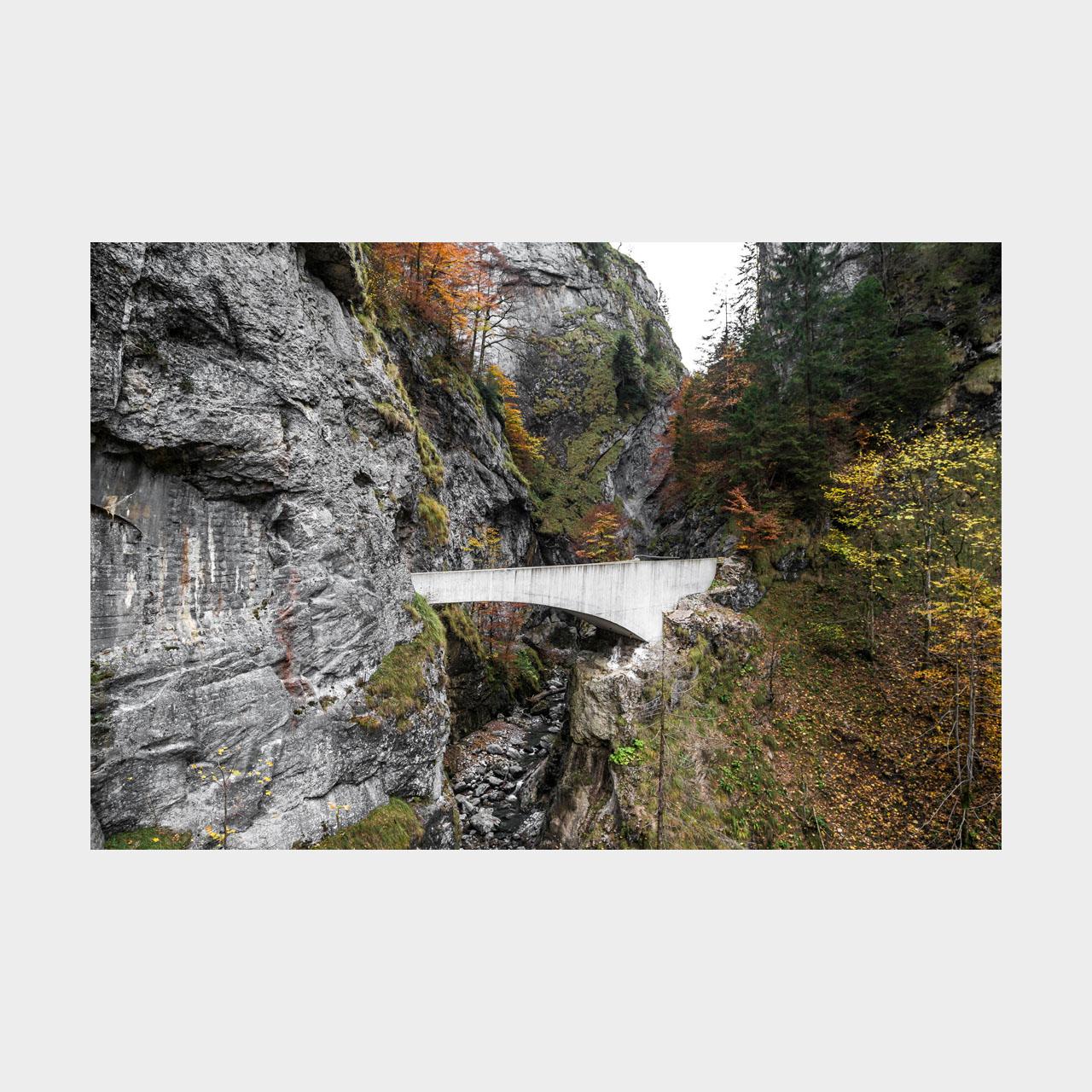 Architekturfotografie Schaufelschluchtbrücke Ebnit