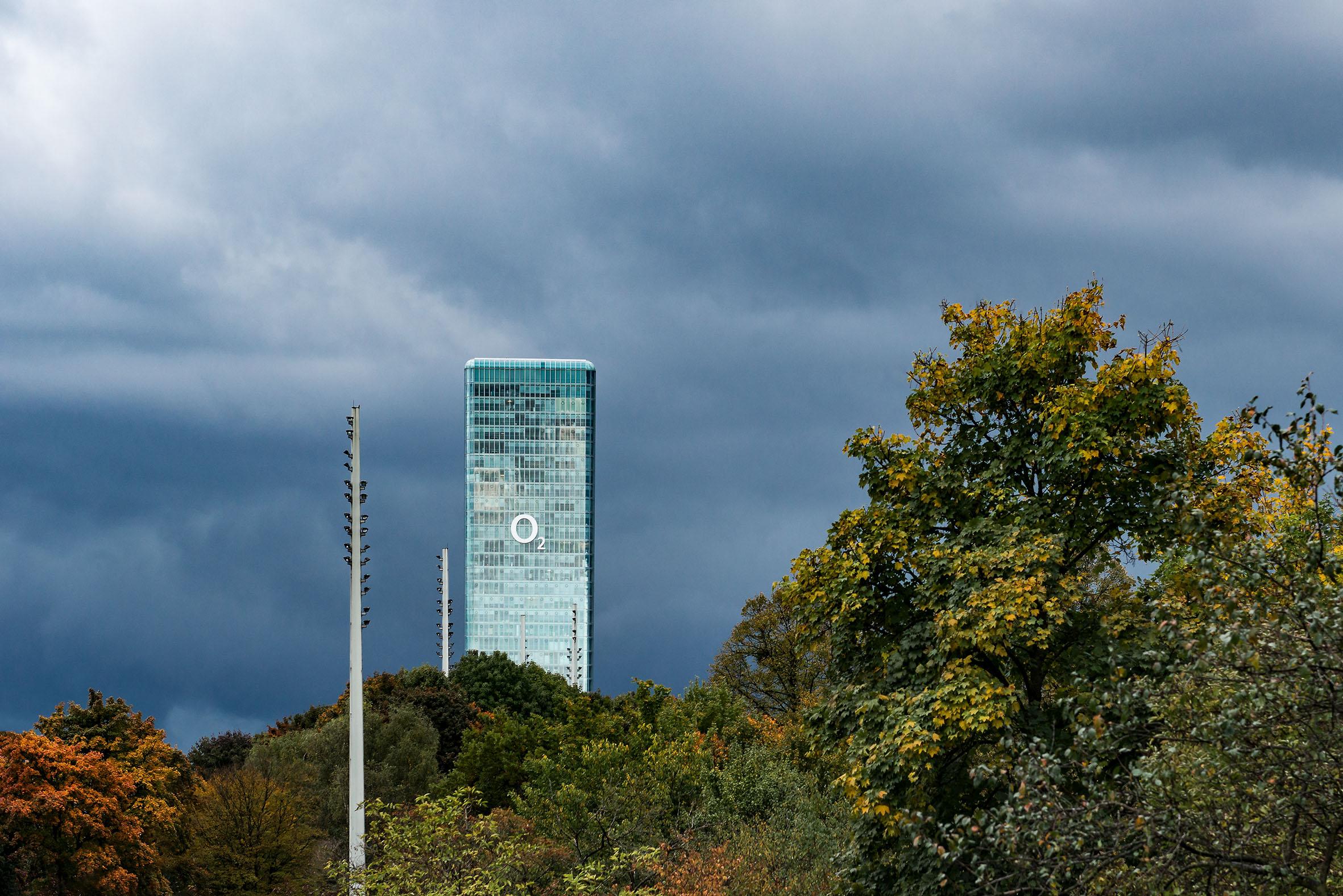 Architekturfotografie O2 Hochhaus Uptown München