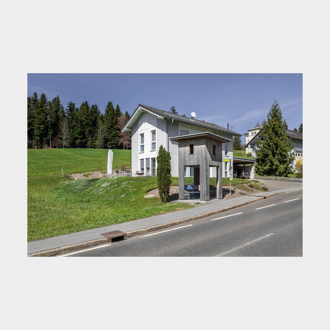 Architekturfotografie Krumbach Bushaltestelle Oberkrumbach