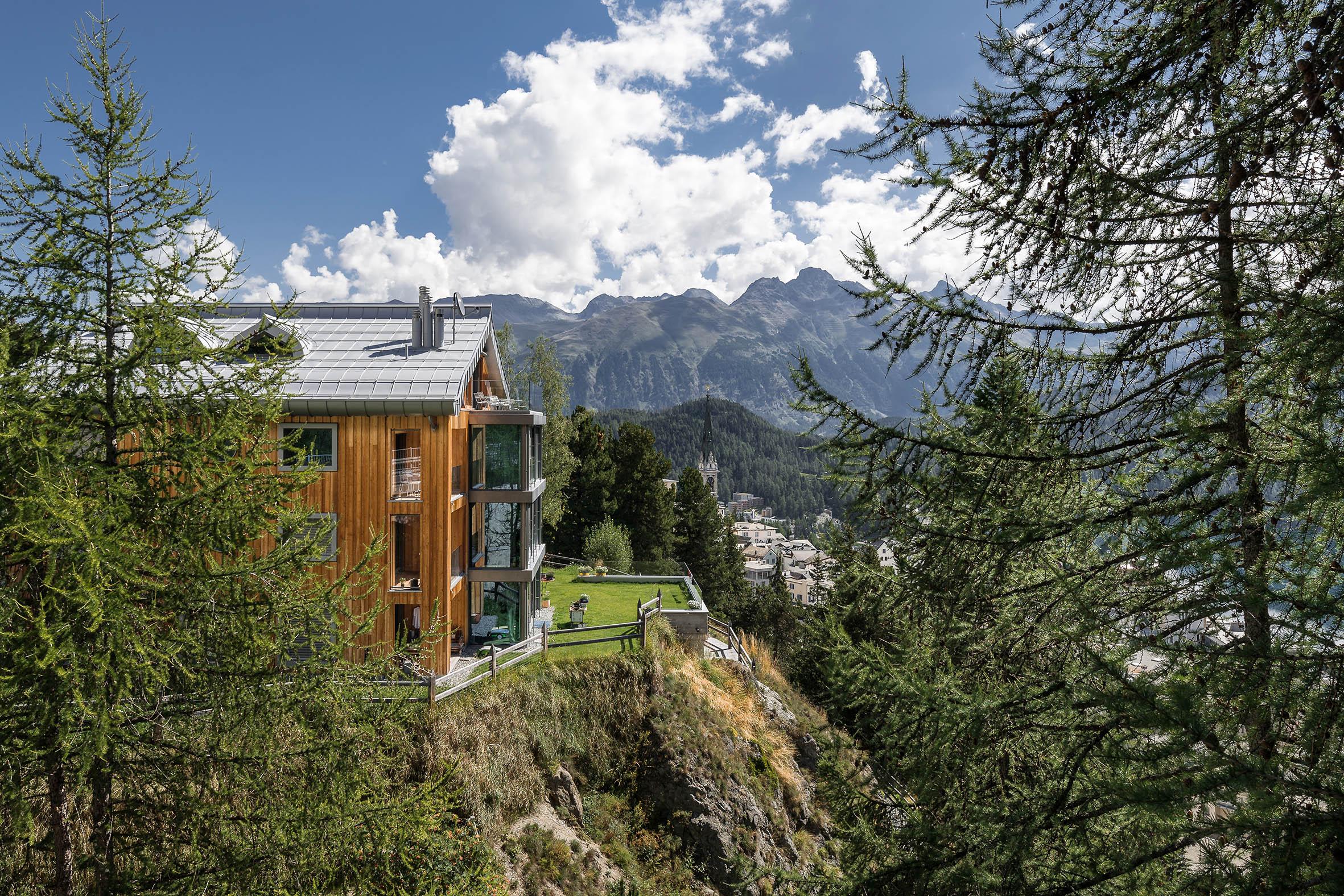 Architekturfotografie Haus Tinus Sankt Moritz