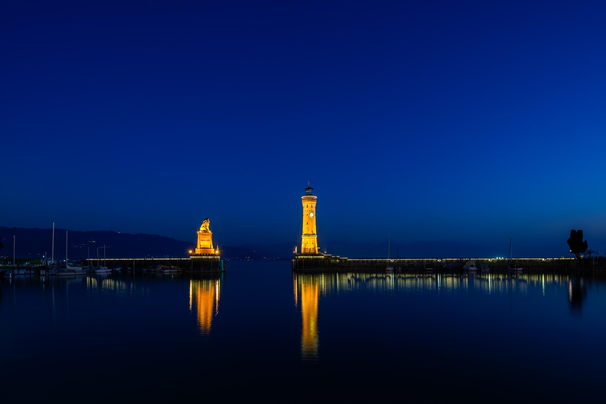 Architekturfotografie Lindau Hafen Leuchtturm