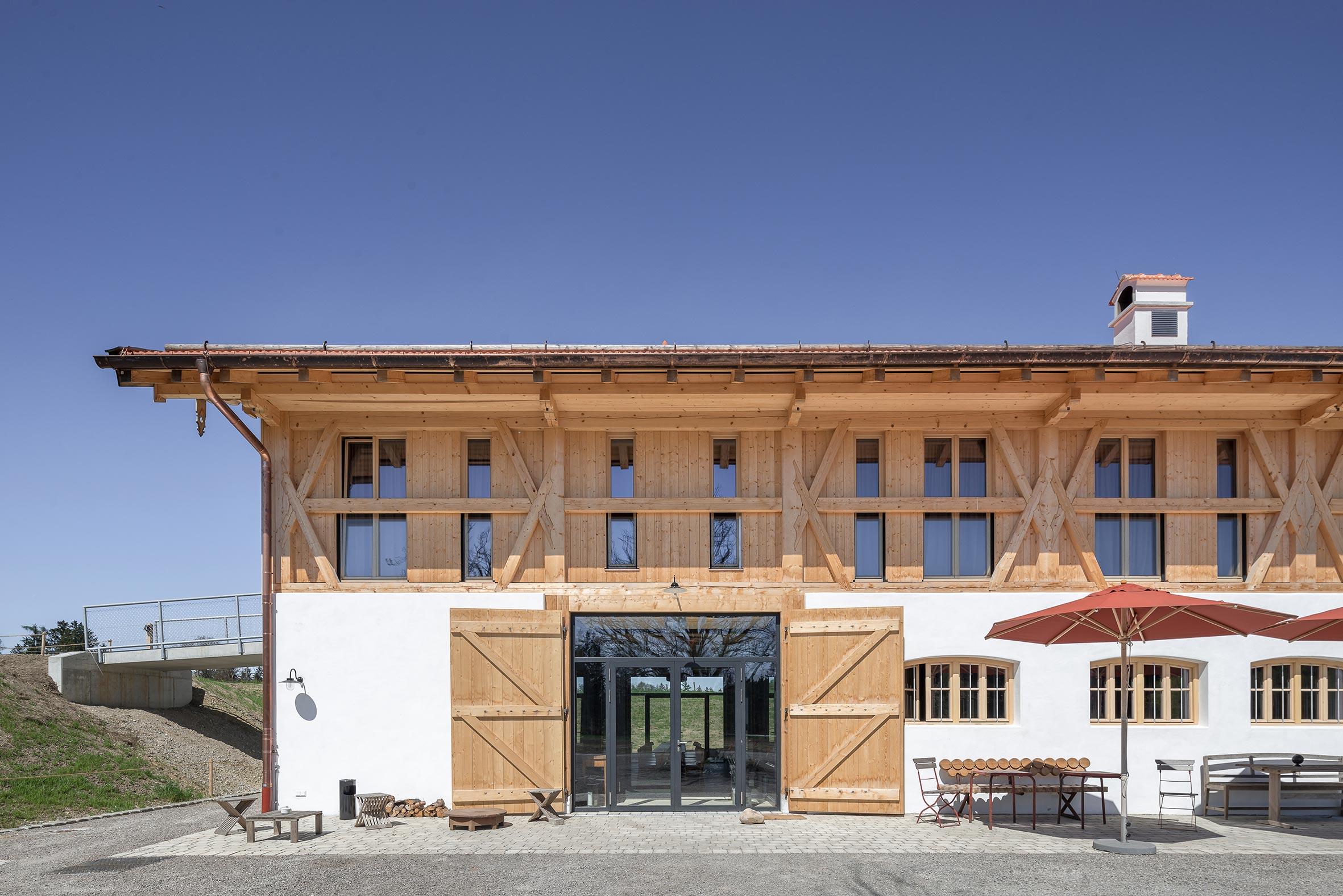Architekturfotografie Bauernhaus Hotel Gut Sonnenhausen Glonn. Foto: Gerd Schaller / BAUWERK PERSPEKTIVEN
