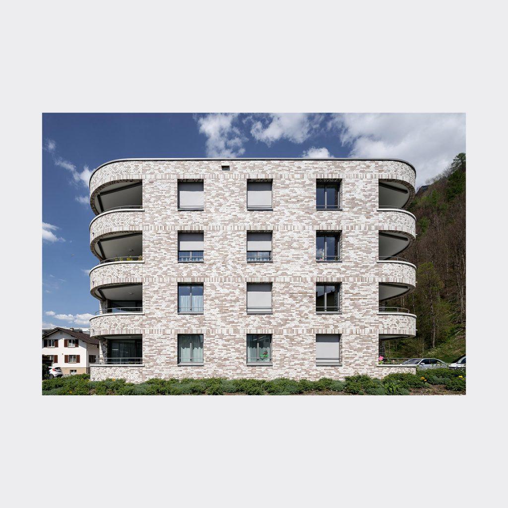 Architekturfotografie Wohnsiedlung Vaduz. Foto: Gerd Schaller / BAUWERK PERSPEKTIVEN