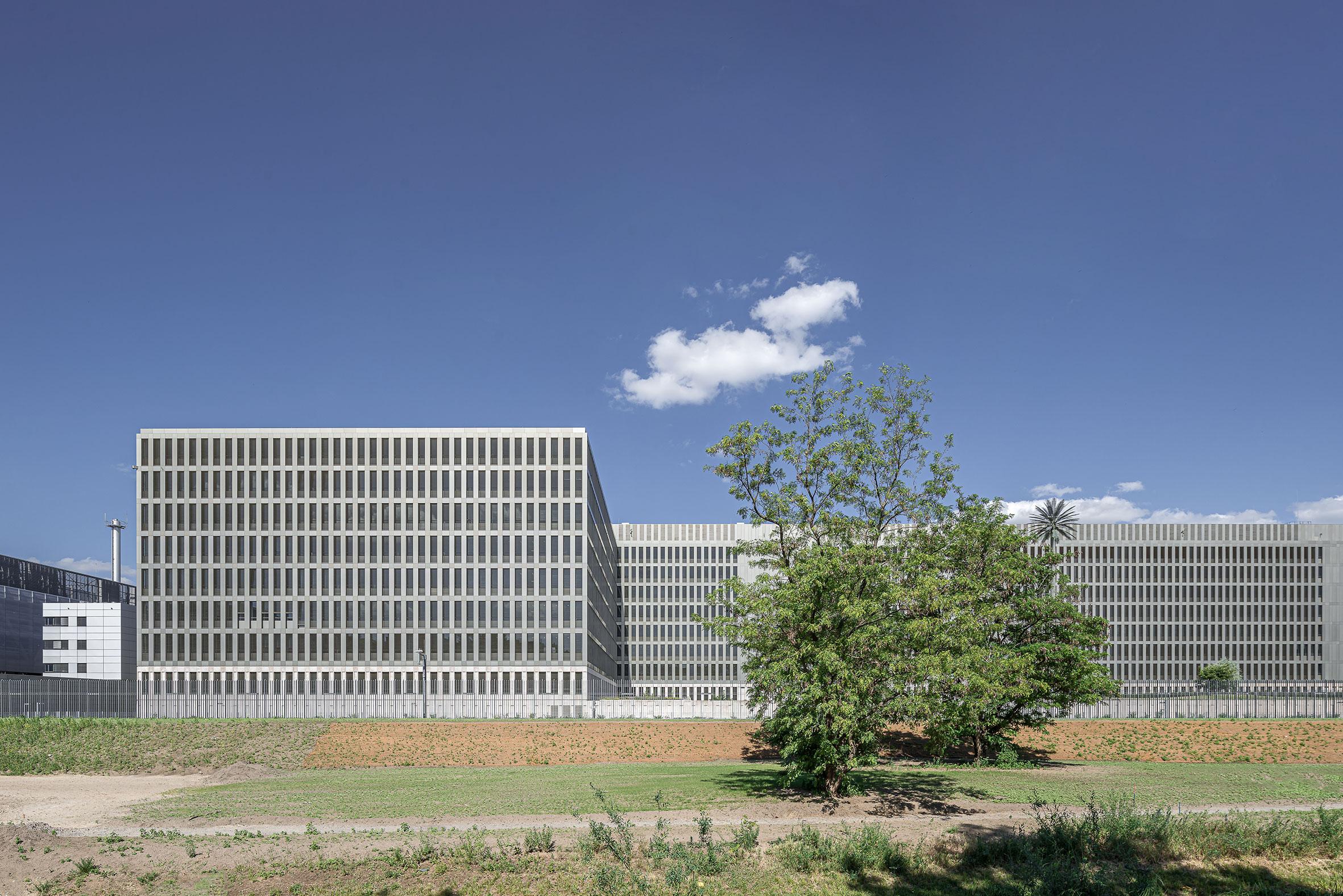 Architekturfotografie Bundesnachrichtendienst Zentrale Berlin. Foto: Gerd Schaller / BAUWERK PERSPEKTIVEN