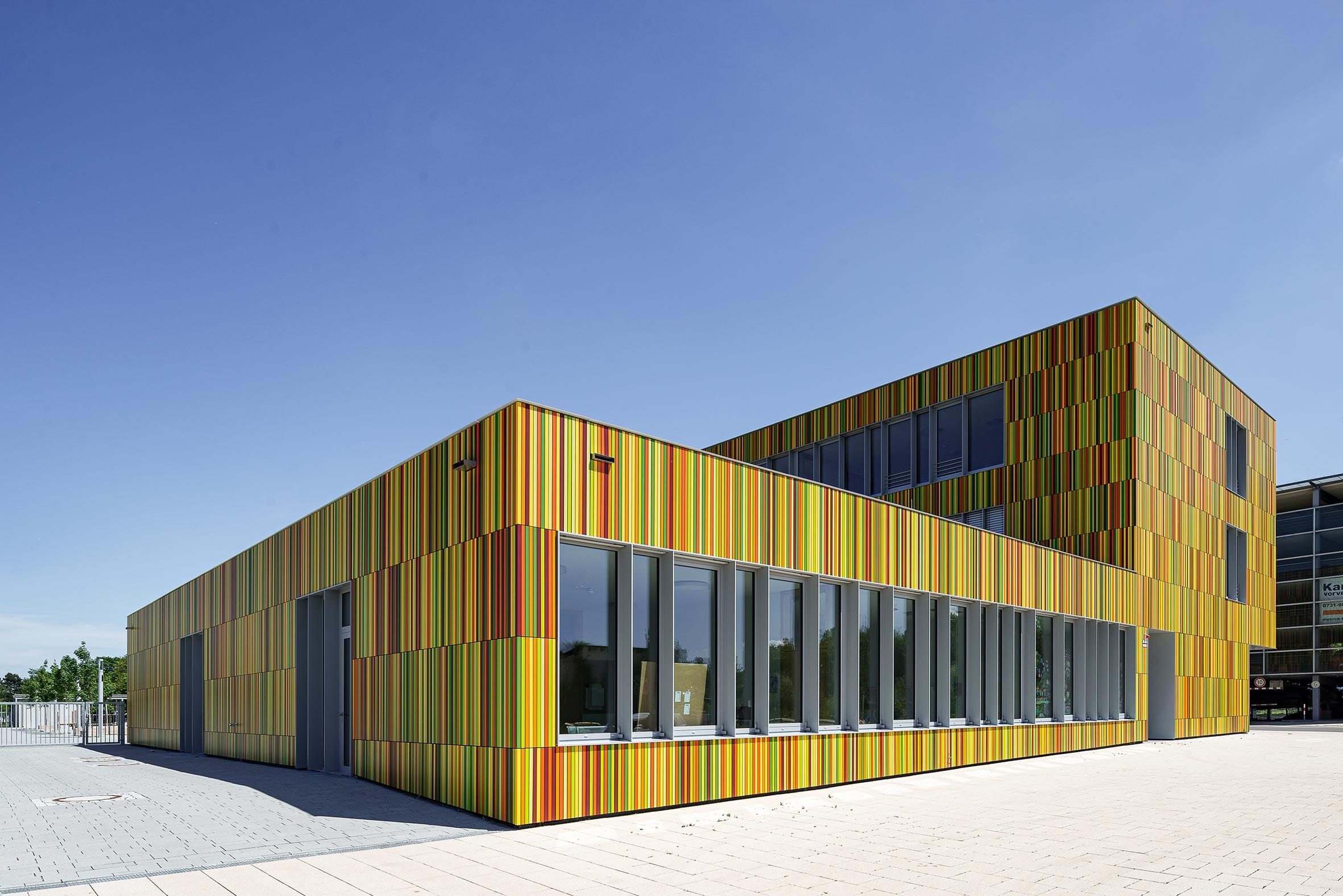 Architekturfotografie Mark Twain Grundschule Neu-Ulm. Foto: Gerd Schaller / BAUWERK PERSPEKTIVEN