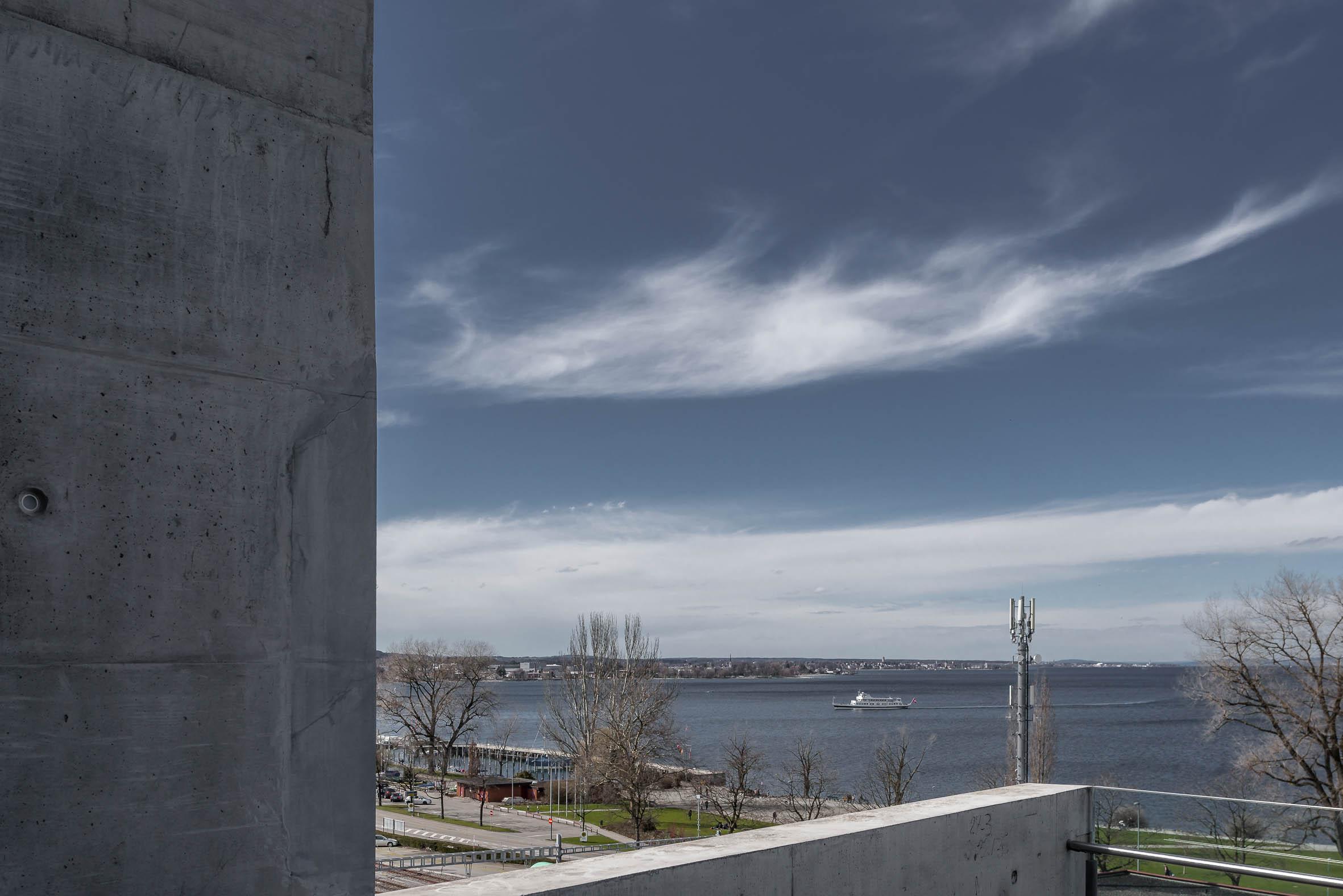 Architekturfotografie Panoramalift Treppenturm Rorschach | Gerd Schaller | BAUWERK PERSPEKTIVEN
