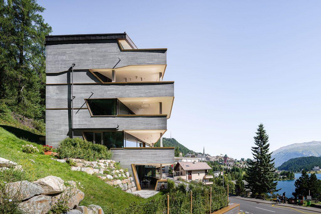 Architekturfotografie Grischun Mountain Residence St. Moritz   Gerd Schaller   BAUWERK PERSPEKTIVEN